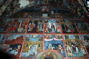 Inside Panormitis Monastery, Symi Greece.