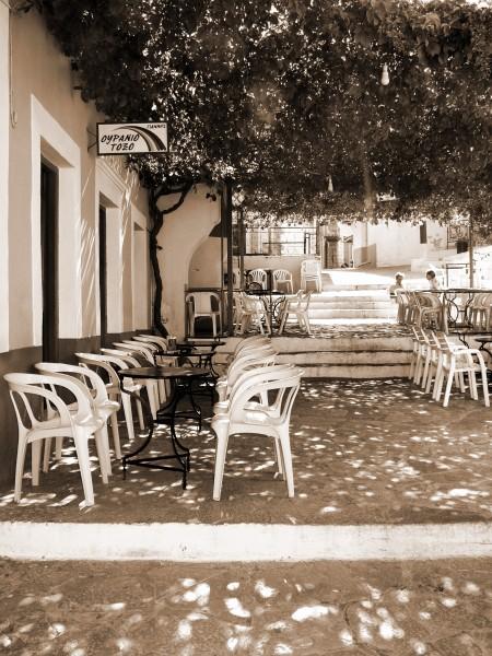 Rainbow bar, Horio, Symi, Dodecanese, Rhodes, Greece.