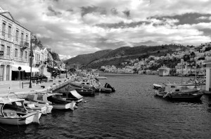 Yalos, Symi harbour, Greece, Limited edition.