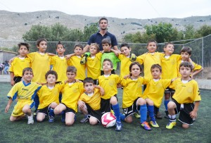 Childrens football team in Symi