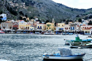 Symi harbour Dodecanese Greece. Limited edition photographs.