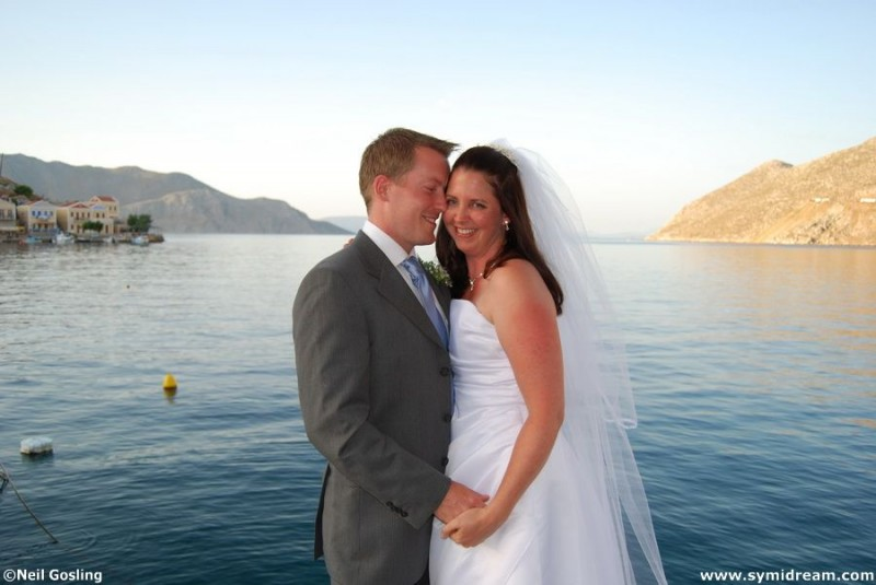 Wedding photos on Symi Dodecanese Greece.