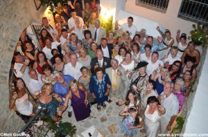Weddings and wedding receptions on Symi Dodecanese Greece.