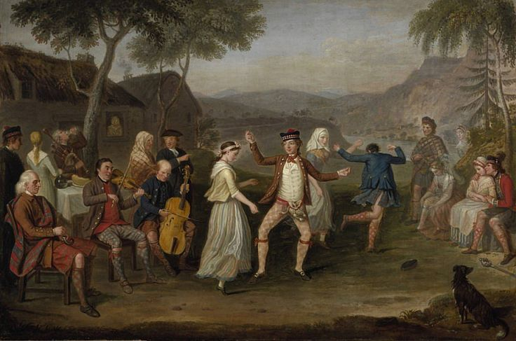 The celebration of the younger Earl's first win (the Earl and Lady Louisa are not shown in this painting; they were checking his conkers for signs of damage).