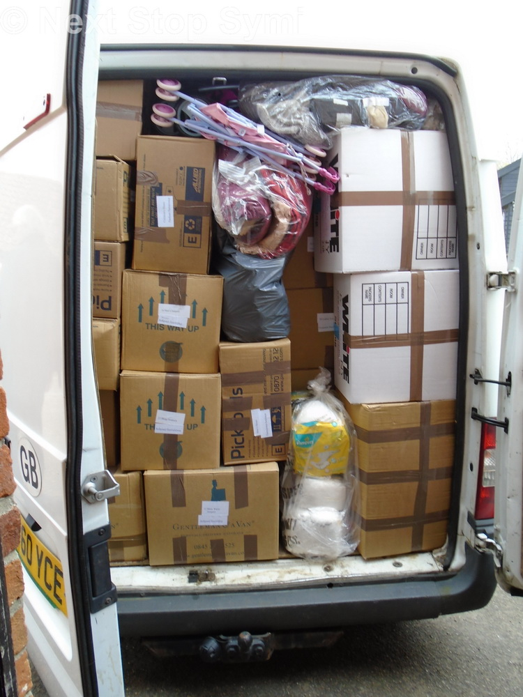 The back of the full van