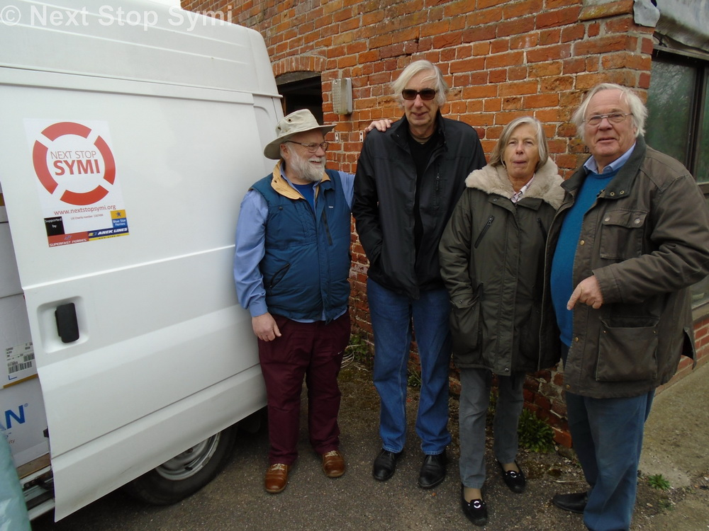 Some of the Trustees of NSS after loading the van