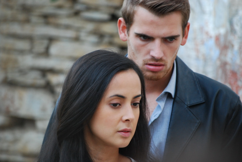 Kurtis Stacey and Rebecca Grant in 'The 13th' filmed on Symi in 2013.