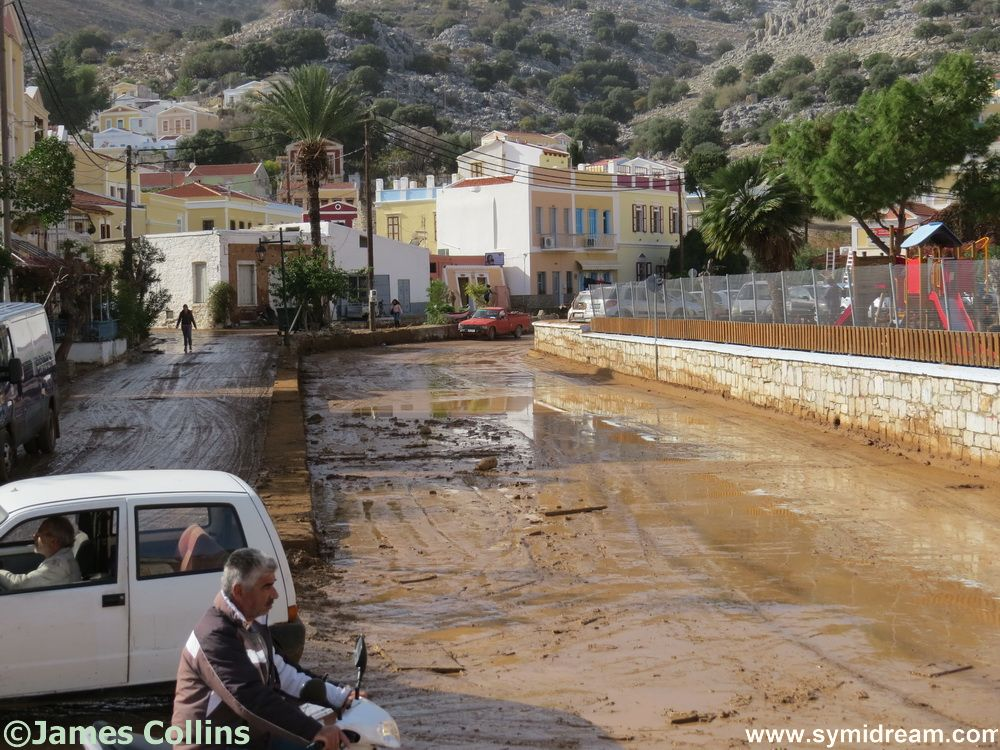 Two days ago, this road was a riverbed complete with rocks, debris and cars