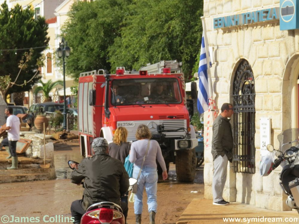 Don't usually see this kind of fire engine on Symi