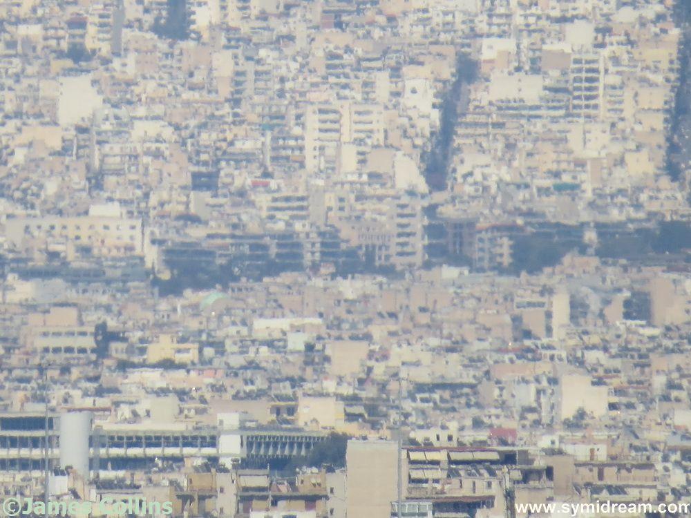 Long zoom shot of Athens area - eek!
