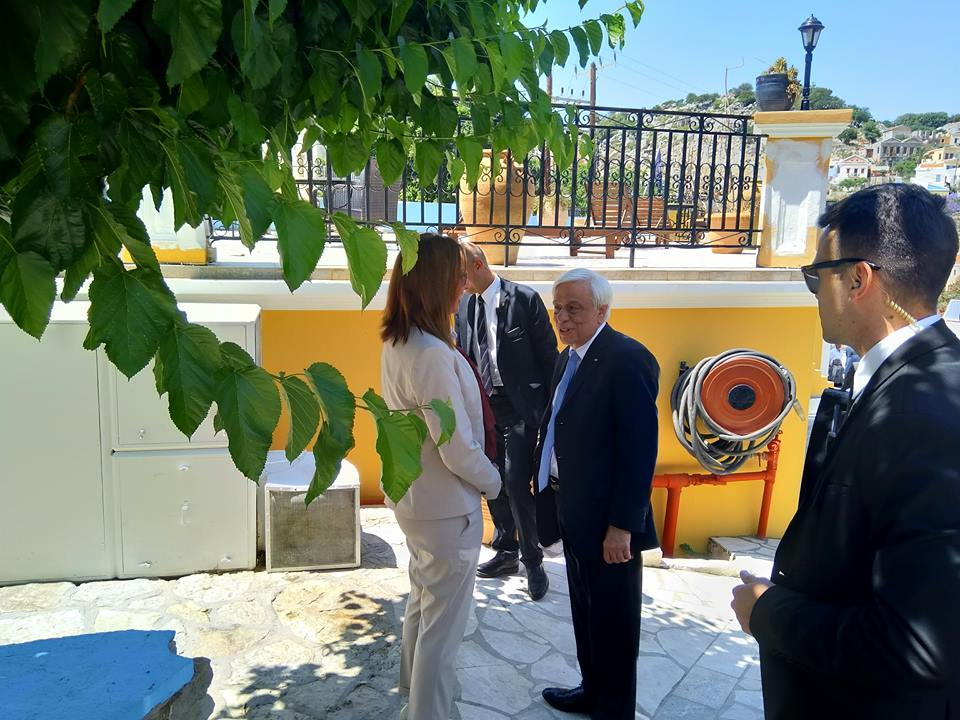 President visits Symi