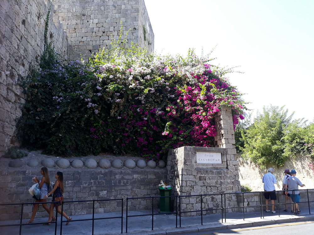 Freedom gate where you cross the moat into Symi Square, Mandraki