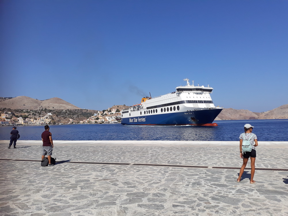 The Blue Star arriving at Symi