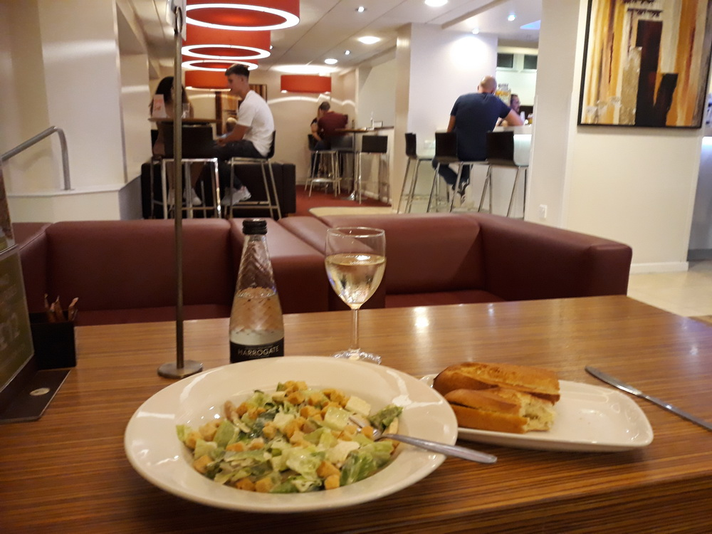 Travelodge salad and a glass of wine, £20.00 thank you!