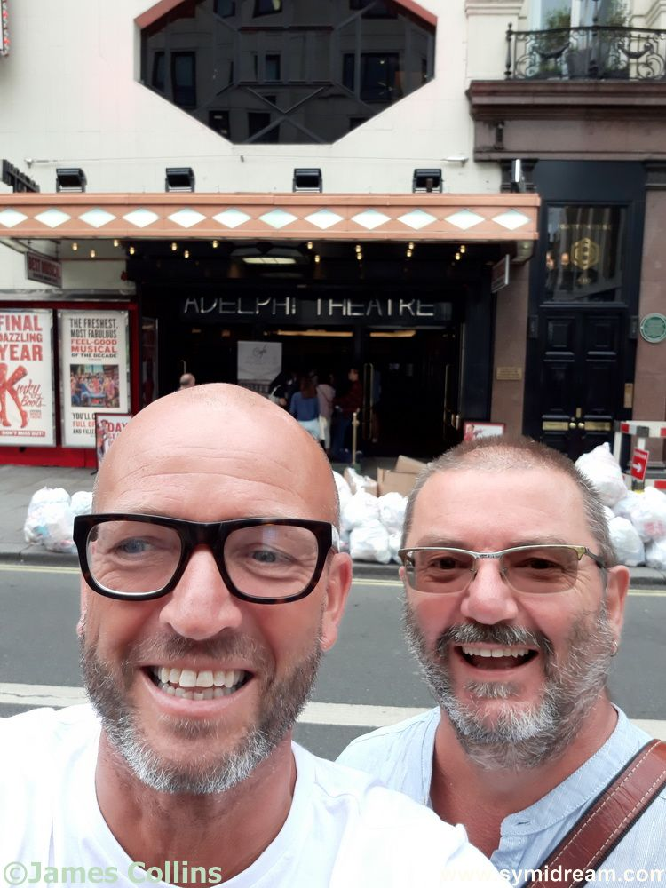 Box and Cox outside the Adelphi theatre (Adelphos in Greek means briother, so appropriate for the long lost brothers, kind of)