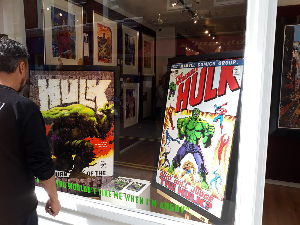 This photo, taken in Covent Garden, was just for Neil and anyone else into superheroes, comics and films.