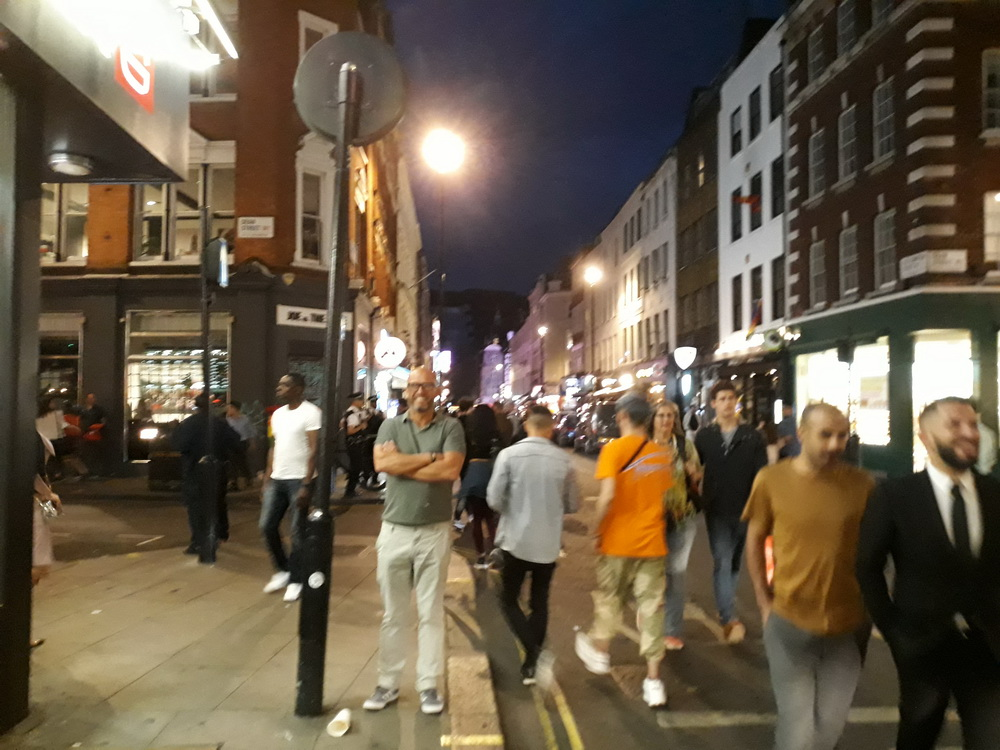 Soho by night (the nicer part of the area).