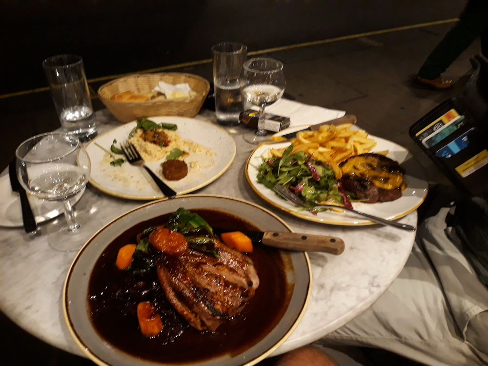 Highly recommend Prix Fixe in Dean Street. This was duck in loads of gravy (sorry, blackcurrant and wine reduction with a hint of… and all that).