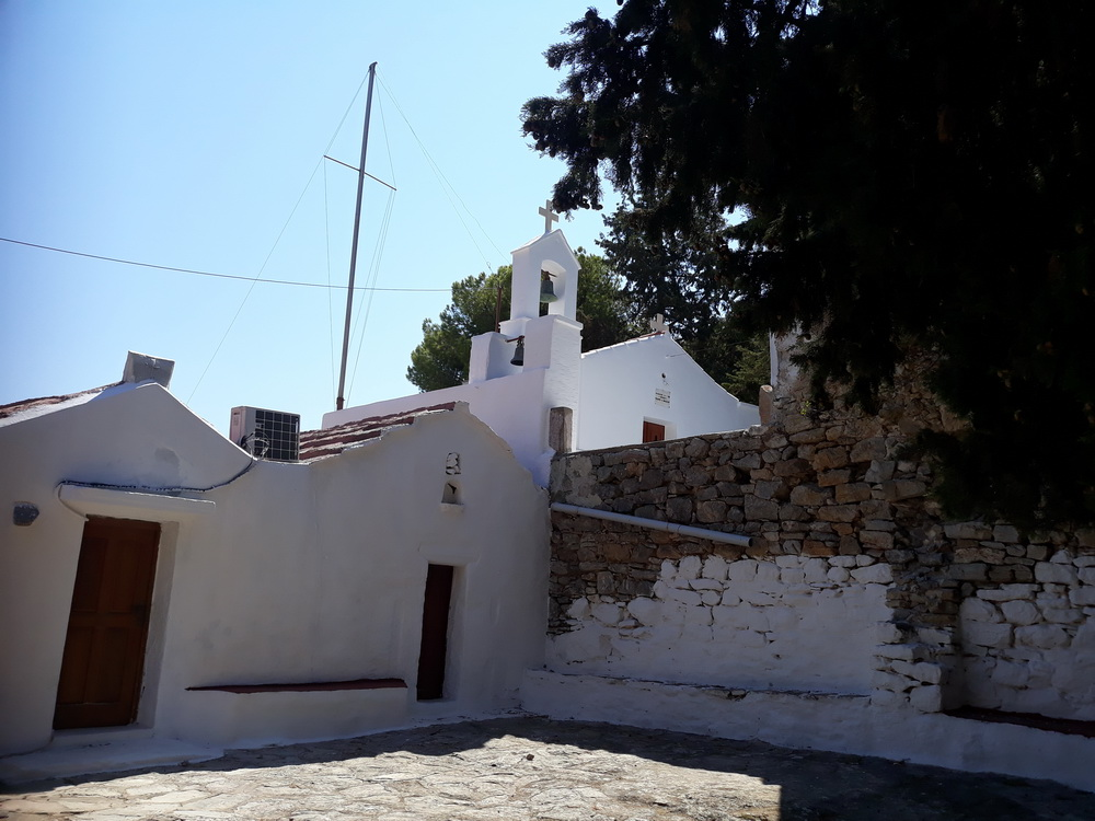 6. Behind the church (three chapels actually) is a courtyard you can rest in and find shade.