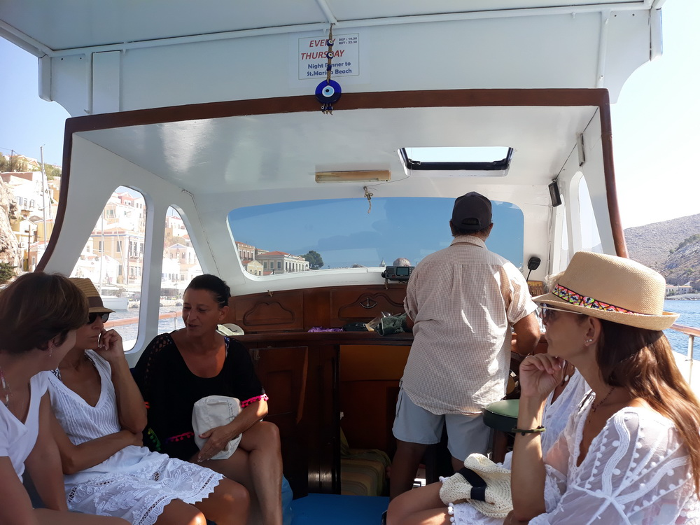 Taxi boat to Nimborio and back, 7.00 euros