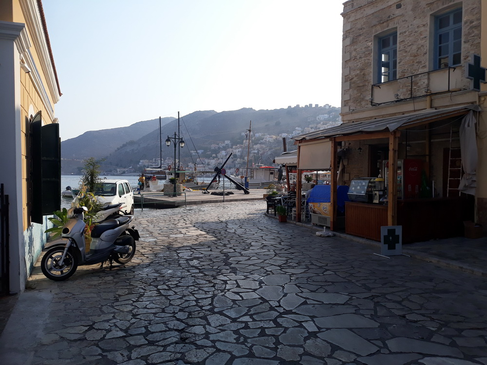 Meanwhile in Yialos before the day boats arrive