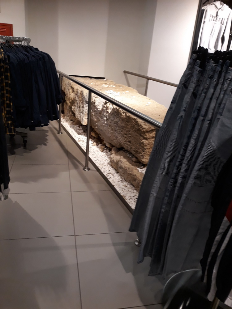 If you're in H&M, pop down to the men's department and check out the ancient ruins that run through it. Where else can you see ancient history while you bemoan skinny-fit jeans?