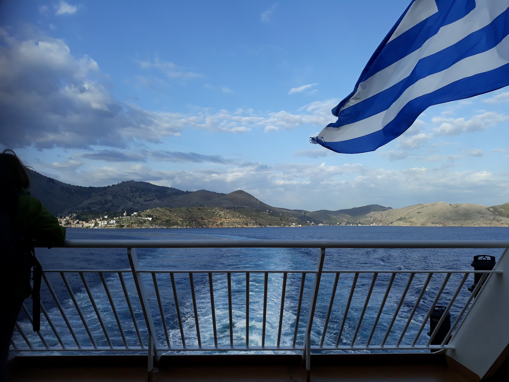 Leaving Symi for a day trip in April