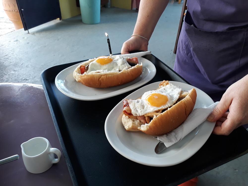 Birthday breakfast at the OT