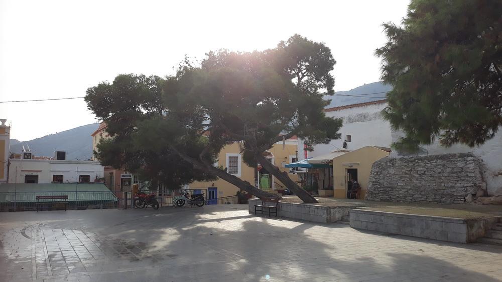 Village square in November