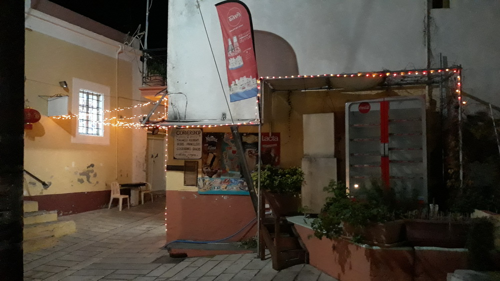 Festive corner shop