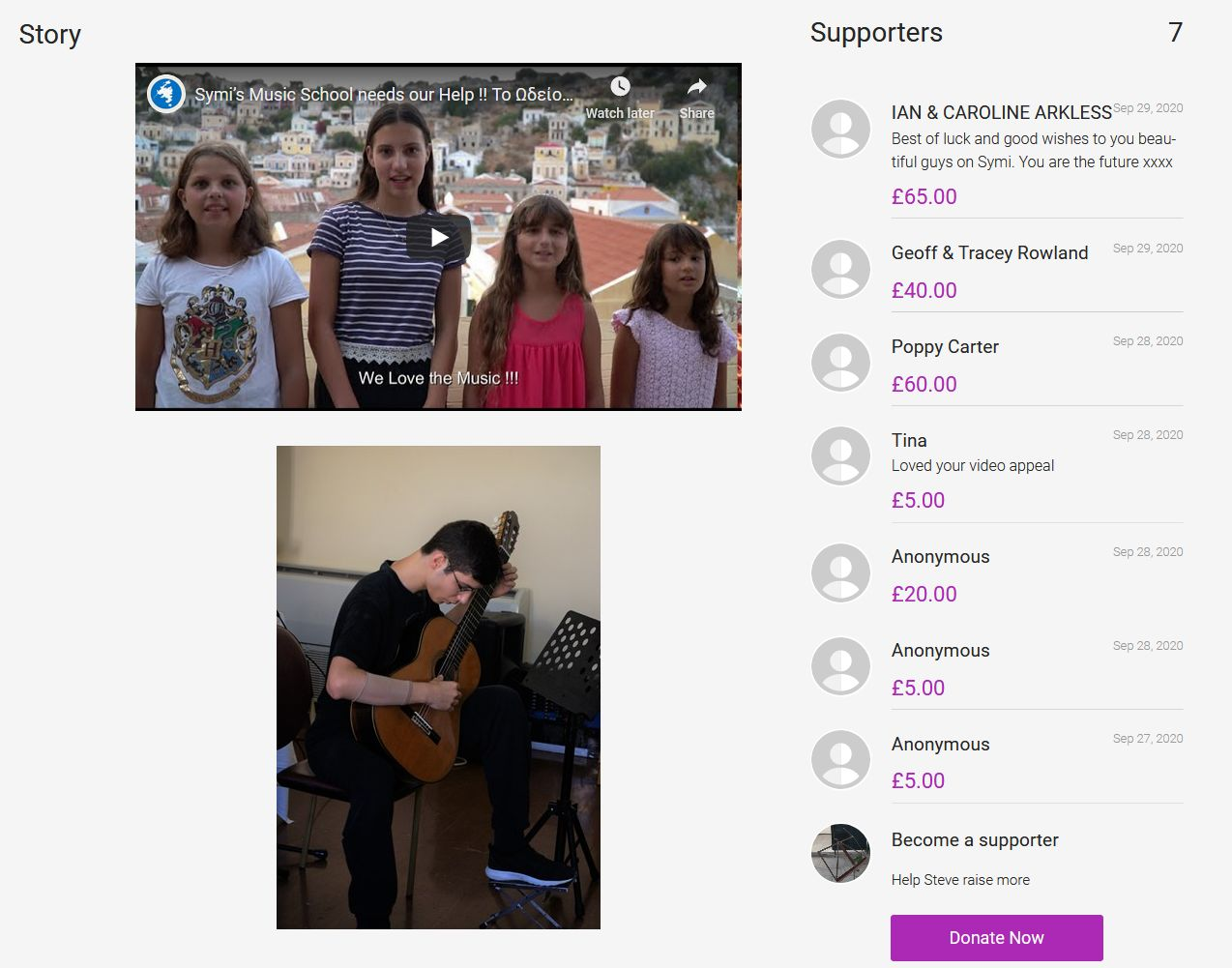 2Crowdfunding to Help fund Symi Music School on JustGiving' - www_justgiving_com