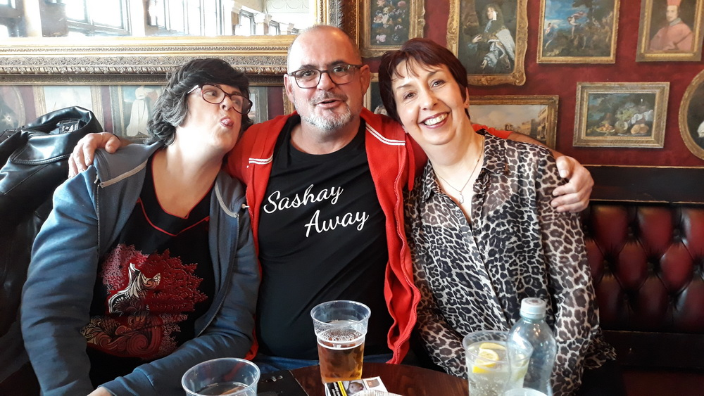 Neil's sister, Tracy, himself and Tanya.