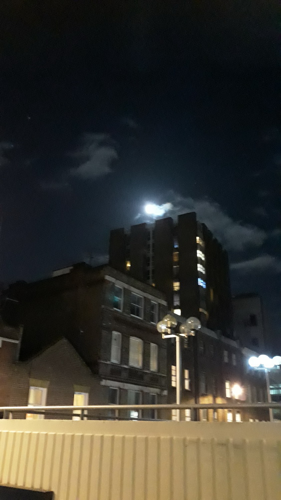 And night falls over central London...