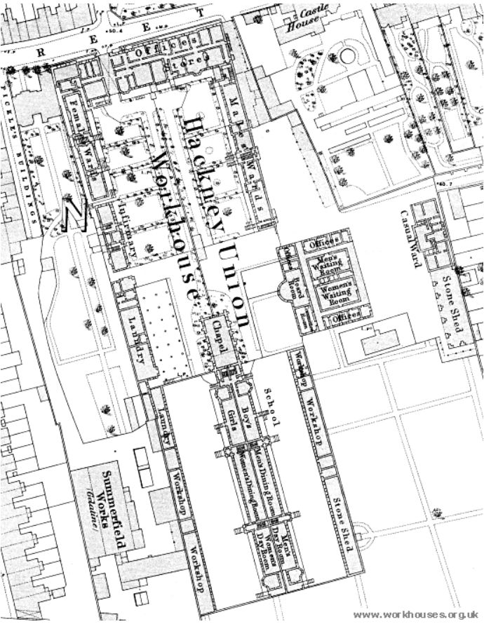 hackney workhouse map 2